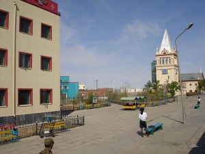 Immigration Officials Wait At Zamin-uud, Mongolia