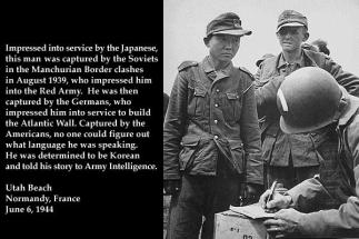 Korea Soldier in German Uniform from http://www.worldwar2database.com/