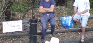 Sitting on the fence - Kundabung, NSW, 2008 at the Bull Riding Championships