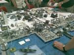 WWII demonstration game using Lego blocks and Märklin track