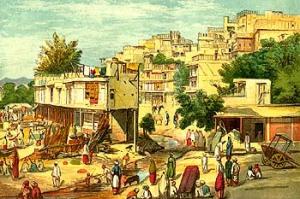 Peshawar Town in 1857
