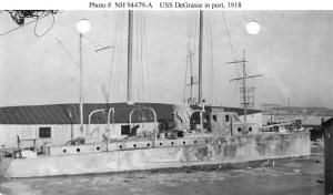 The yacht, USS De Grasse in 1918
