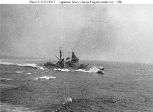IJNS Haguro running at speed