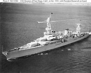 USS Houston before the war
