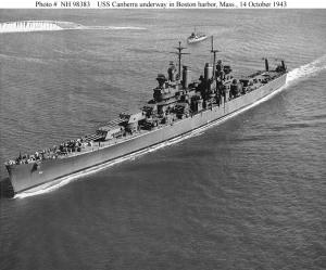 USS Canberra in 1943