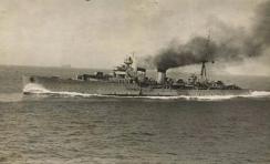 Almirante Cervara during sea trials