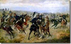 Gefecht_zwischen_k.k._Husaren_und_preussischen_Kürassieren_in_der_Schlacht_von_Königgrätz_(A._Bensa_1866)