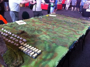 The Zulus are massed to Attack - one of the demonstration games