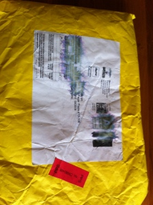 The envelope complete with almost washed out label