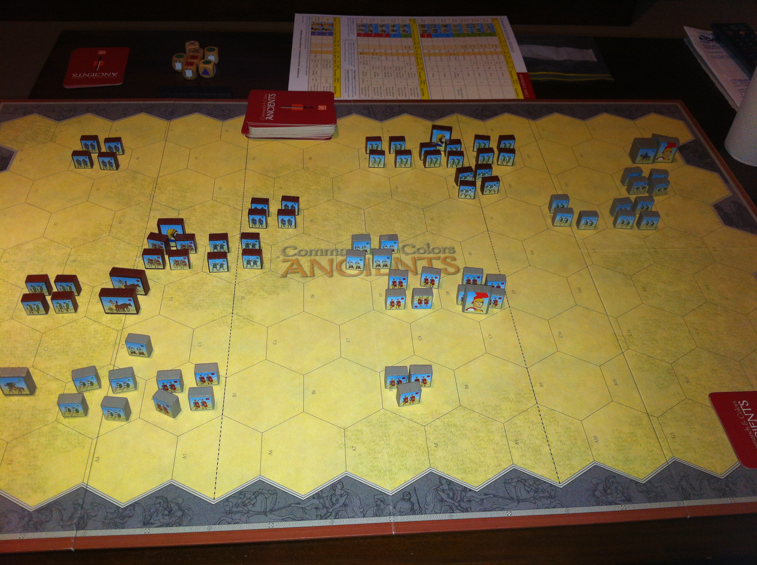 Games Night – Command and Colours Ancients and Catan – Thomo\'s Hole