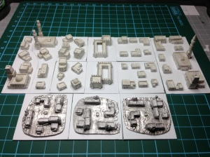 Irregular Miniatures and Brigade Models 2mm buildings and village
