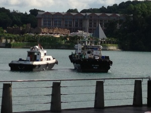 Belize Registered Vessels at Harbourfront - between Vivo City and Sentosa