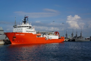 The Swift Rescue - submarine rescue ship