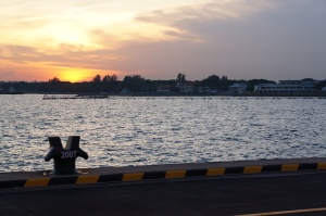 Sunset from the Changi Naval Base - a perfect finish to a perfect day
