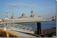 RSS <em>Tenacious</em> at berth at Changi Naval Base, SIngapore