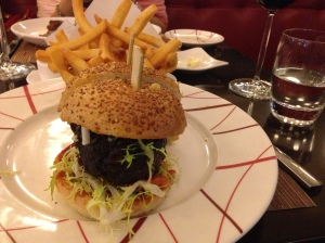 The Original db Burger - made with braised short ribs and foie gras