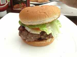 The Gun Bar Burger - sweet!