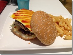 The Food Garage Cheeseburger