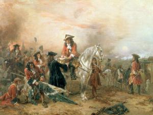 Duke of Marlborough signing Despatch from Blenheim, Bavaria in 1704