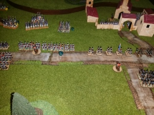 The centre and right flank at battle's end