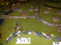 The right flank at battle's end