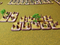 Mounted Russians and dismounted markers. Cavalry will normally be able to deploy as infantry