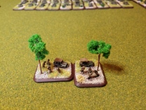 Two Headquarters bases and like all Headquarters, even on the steppe will find a shady tree