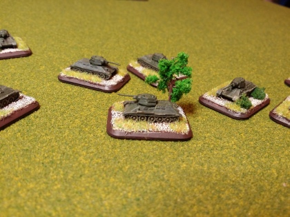 T34/76 tanks - showing simple, basic weathering