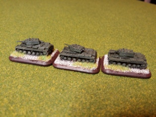 KV-1a tanks - a small platoon showing simple, basic weathering