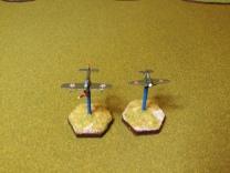 Bell P-39 Airacobra and Polikarpov I-16 Rata Mosca.