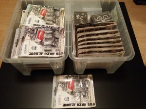 The stock boxes - mid and late war Soviets waiting for their turn on the painting queue