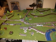 The French breakthrough on the British Right, ready to be met by the British Heavy Cavalry