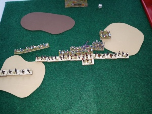 Deployed ready to face the Anglo-Saxons (Actually, I think these were Anglo-Danish so IV/71)