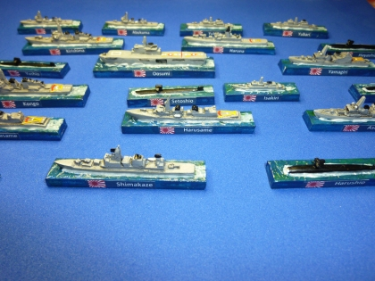 The Japanese fleet review