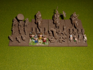 The Khmer - undercoated and some painting started