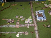 The British Light Cavalry close, disastrously, on the French infantry columns