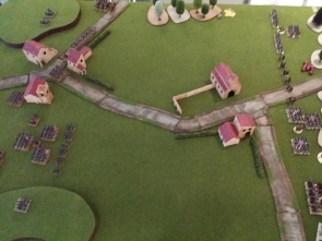Deployment - French on the left, British on the right