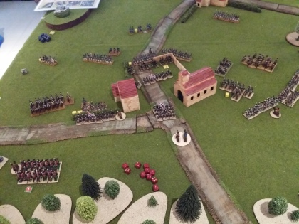 The French ready themselves to assault the town