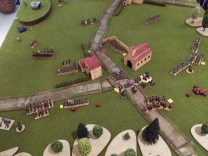 As the battle ends - the French are in the town but the British are victorious everywhere