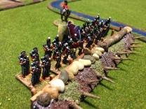 British battalion manning some field defences