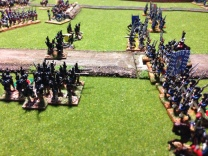 Now the Caçadores become a juicy target for the French infantry