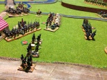 The 5/60, unsteady from 50% casualties fights bravely on to the chagrin of the French