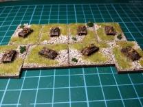 The Type 97 Te-Ke tank park ... such as it is