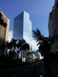 Well, it ain't historical but it is modern Manila - a view along Makati Avenue looking towards Ayala Avenue and Ayala Triangle Park