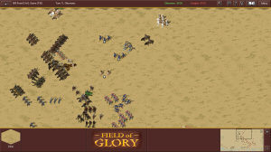 My left overtakes Anthony's right at the end (my troops look darker)