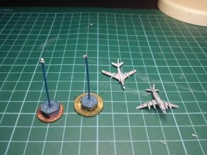 The damaged aircraft