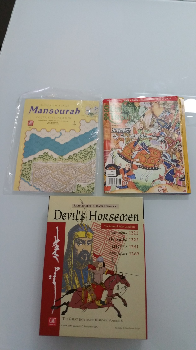 The two Mongol based games and one expansion dealing with the Mamelukes