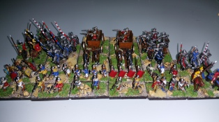 Later Hungarians - these guys did most of the damage as there are four really heavy bases in here