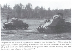 M3 Grant tanks used by the Soviets