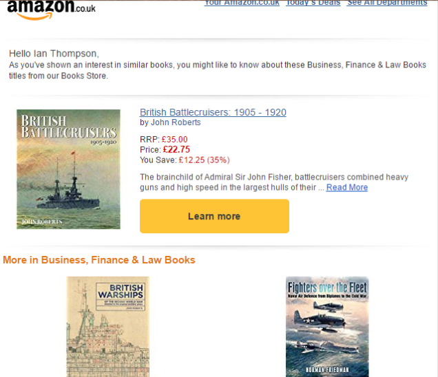 Amazon.co.uk redefines business for me